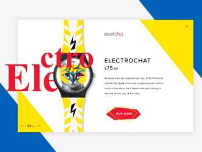Watches Product Card swatch price minimal typography store product colour e-commerce page shop button