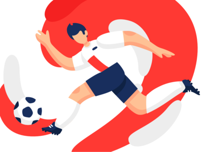 FIFA World Cup 2018 world cup 2018 fifa player win movement vector illustration design football soccer character