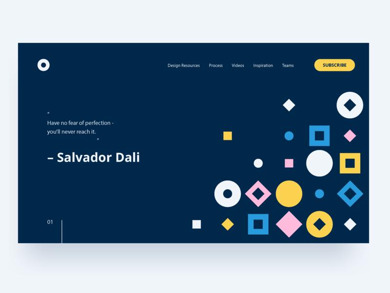Visual Direction I website web design minimal layout flat design shape color typography pattern illustration geometric abstract