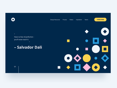 Visual Direction I website web design minimal layout flat design shape color typography pattern illustration geometric abstract
