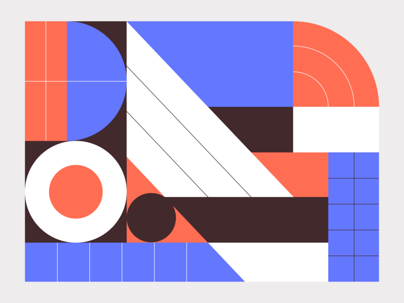 Geometric Pattern color branding shapes line geometry flat  design abstract pattern illustration