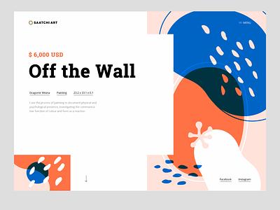 Saatchi Art Redesign brandign illustration ui pattern vector webdesign web saatchi redesign landing page homepage