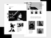 Black and white, e-commerce
