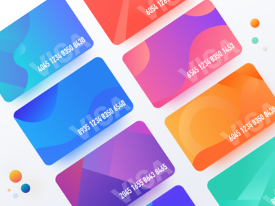 Bank card gradient card,color,the bank