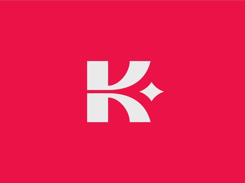 VK Drinks logodesign kombucha tea drink star v k icon design bold monogram simple logotype logo