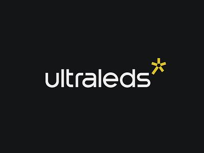 ultraleds branding design bold monogram simple logotype logo