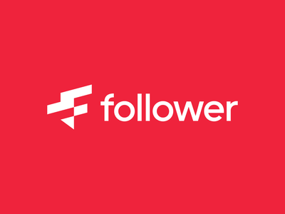 Folower.co f follower icon design bold monogram simple logotype logo