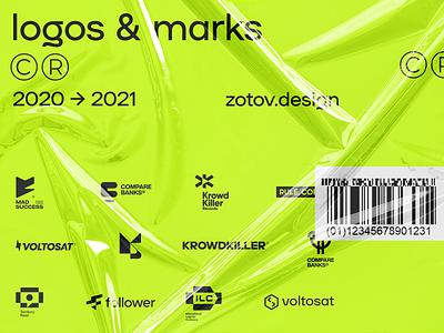 Logos & Marks 2021 design bold identity branding professional behance logodesign monogram simple logotype logo