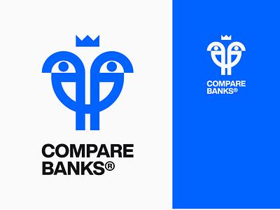 CB Logo service bank compare birds bird wordmark icon design bold monogram simple logotype logo
