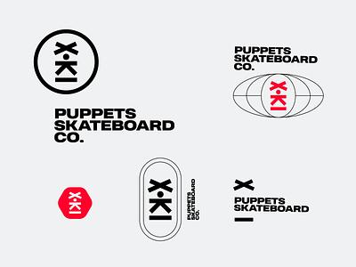 Skateboard skateboard skate puppet wordmark branding icon design bold monogram simple logotype logo