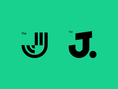 J or J j branding icon design bold monogram simple logotype logo