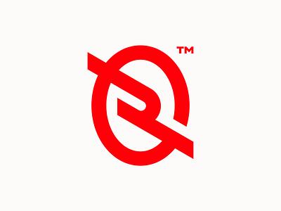 R wordmark branding icon design bold monogram simple logotype logo