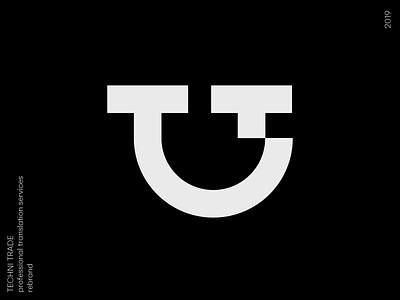 TT logo bold simple minimal face tt smile logo