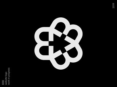 Bbb bold design mono line bbb bb b logo simple logotype monogram