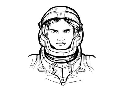 Valerian sketch ink sketch