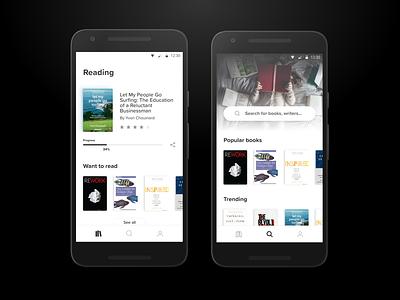 Reading reading list reading app books ui app