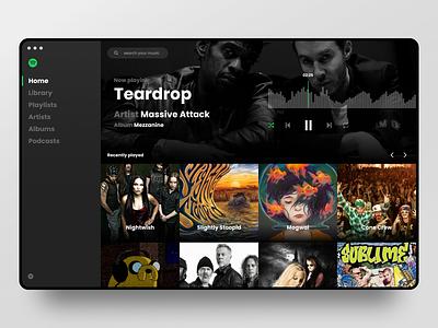 Spotify Skin player music web redesign ui spotify