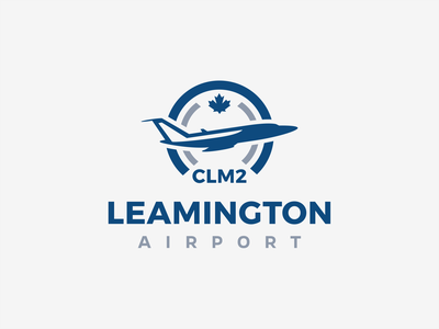 Logo for municipal airport in Leamington, ON Canada logotype logo airplane aviation airport