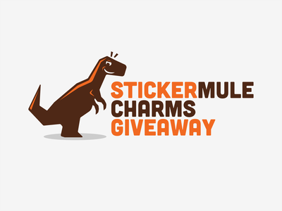 Stickermule charm giveaway eximdesign logojob logo giveaway stickermule