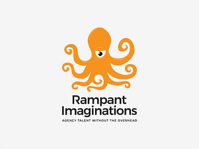 Rampant Imaginations Logo branding illustration eximdesign logotype design logodesign logo