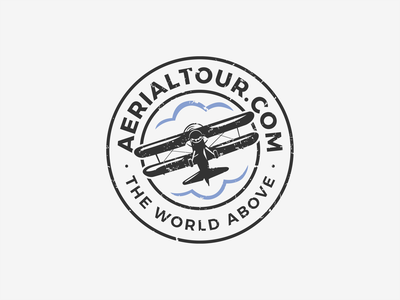 Logo design for AerialTour.com video photography aiplane logodesigner logodesign logo