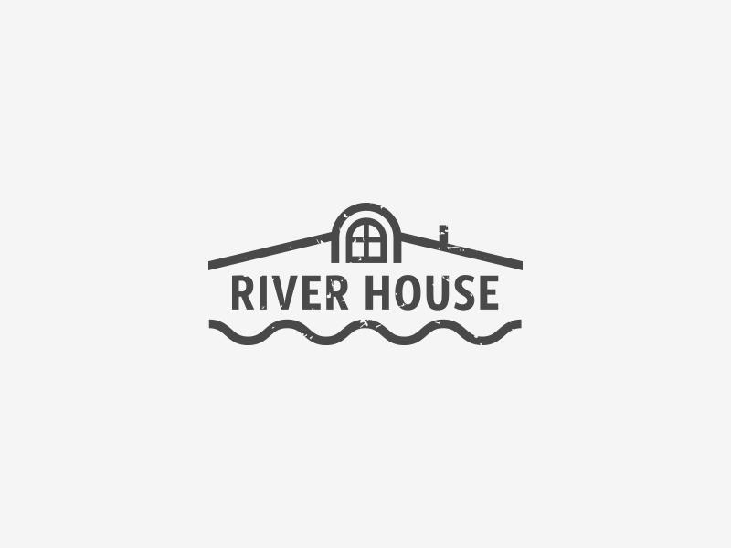 Logo design for River House eximdesign logojob house river design logo