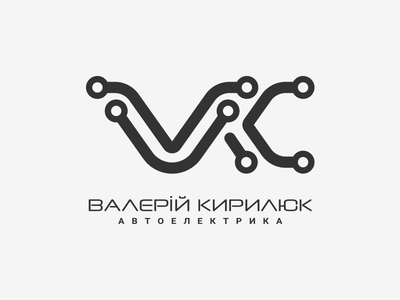 VK Car Electrics logo car mechanic car electronics car electrics