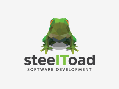 Logo design proposal for steelToad software development logo frog toad