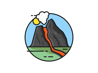 Volcano eruption :) illustration volcano