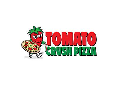 Logo for TomatoCrush Pizza illustration logo logodesig logotype pizza