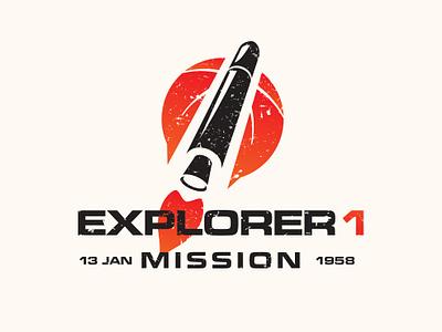 Explorer 1 mission tribute logo explorer space logotype logo