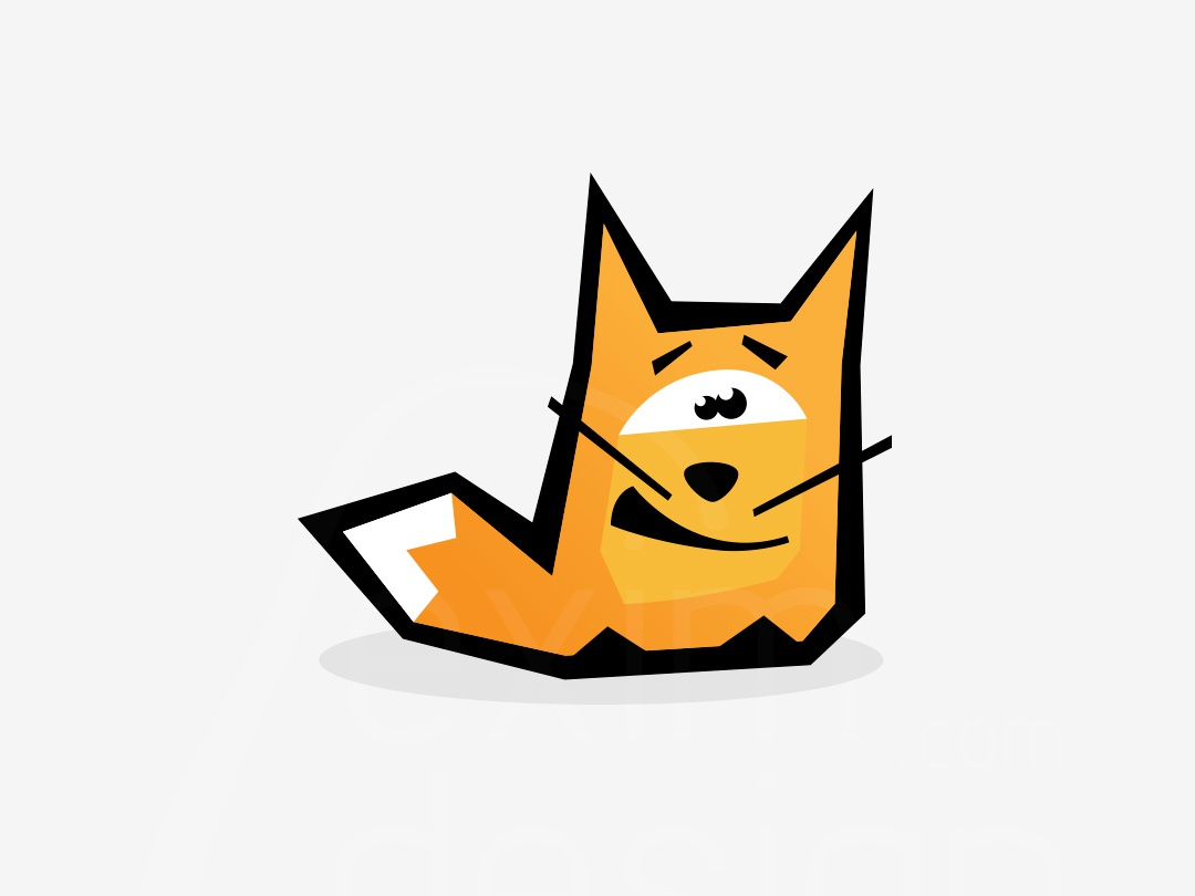 Fox logo concept logotype orange logo fox