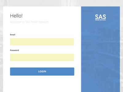 Vendor Portal Login Screen product design user experience design user interface design