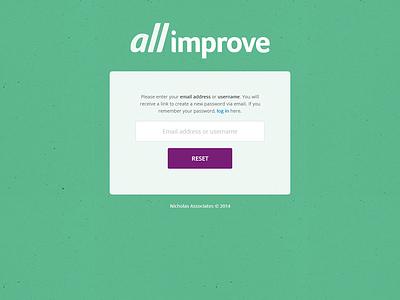 All Improve Forgot Password login forgot password web app