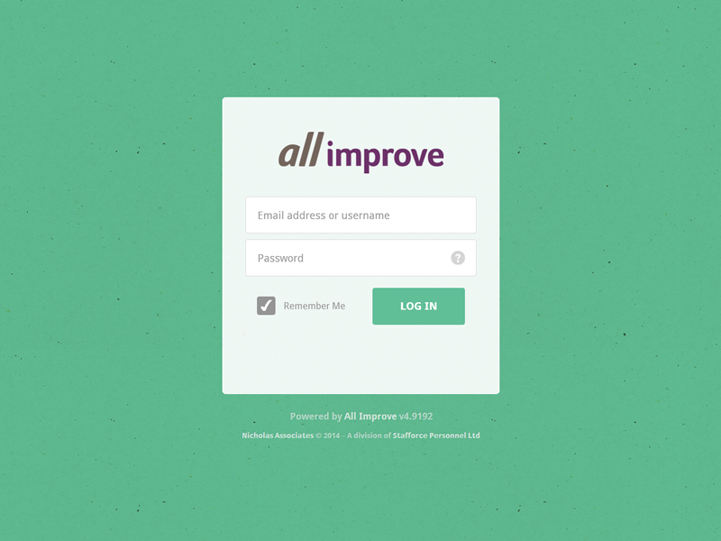 All Improve Login 2 web app login