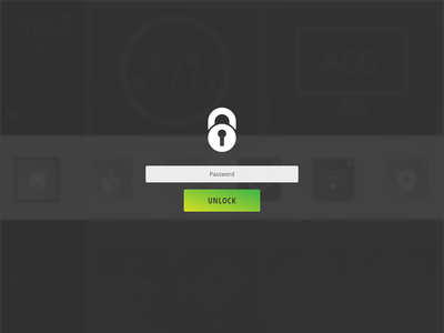 Lock Screen minimal simple ux ui key lock