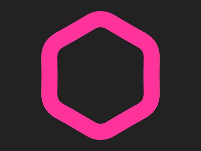 Hexagon hive hexagon icon logo