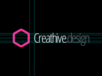 Creathive design logo vector guides hive hexagon branding logo
