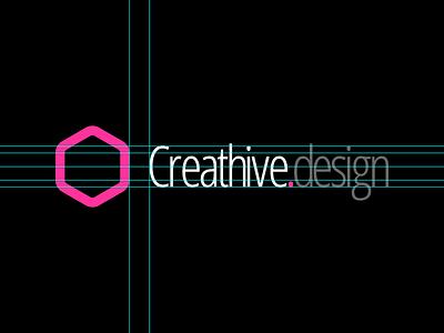 Creathive design logo vector guides hive hexagon branding logo