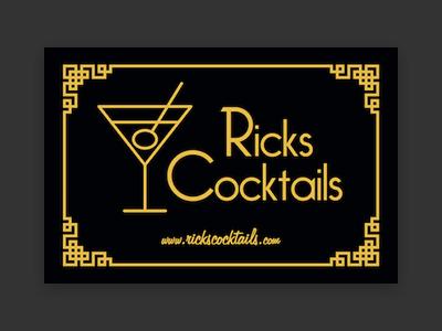 Ricks Cocktails business card logo branding