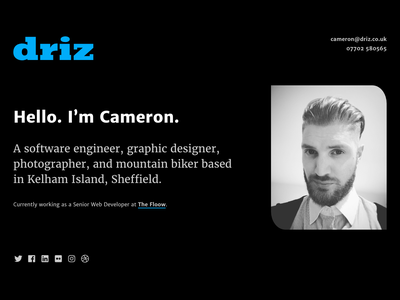 driz.co.uk 2019 ui design portfolio website web