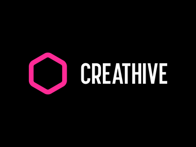 Creathive design refresh hexagon vector logo branding