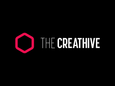 Creathive logo hexagon vector logo branding