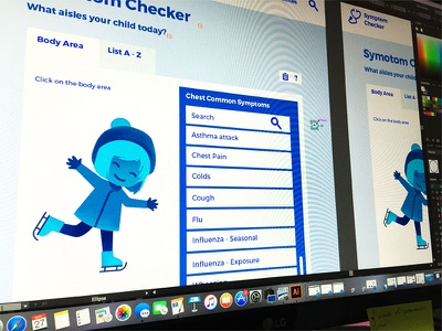 Symptom Checker Wip mobile health minimal medical ui interface mockup app