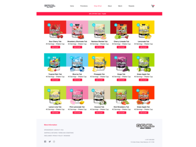 GFUEL Product Webpage