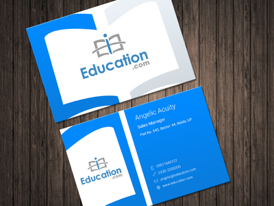 Business card design i education by meena dribbble business card design i education reheart Images