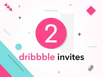 2 Dribbble Invites giveaway two invites invitation design invite dribbble