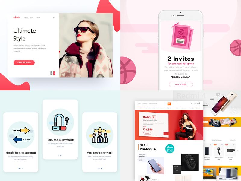 2018 ecommerce branding website mobile app dribbble product design ux ui