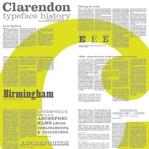 Clarendon clarendon poster layout typography