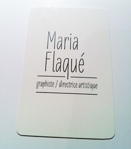 Business card (front) maria flaqué business card 2012